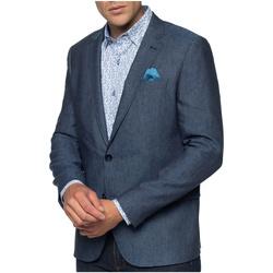 Vêtements Homme Vestes / Blazers Shilton Blazer Lin Bleu marine