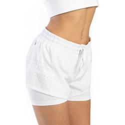 Vêtements Femme Shorts / Bermudas Spyder Short avec legging ouvert sur le coté pour femme Blanc