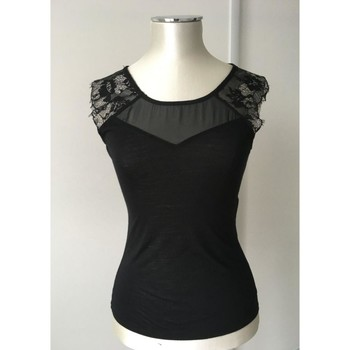 Vêtements Femme Tops / Blouses Naf Naf Top noir élégant NAF NAF Noir