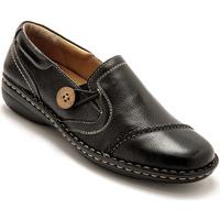 Chaussures Femme Mocassins Pediconfort Sans-gêne cuir tannage végétal noir