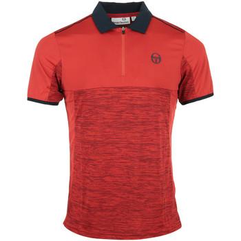 Vêtements Homme Polos manches courtes Sergio Tacchini Aka Polo rouge