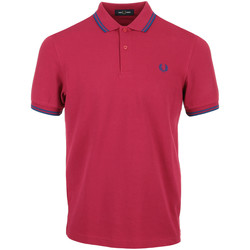 Vêtements Homme Polos manches courtes Fred Perry Twin Tipped Shirt rose