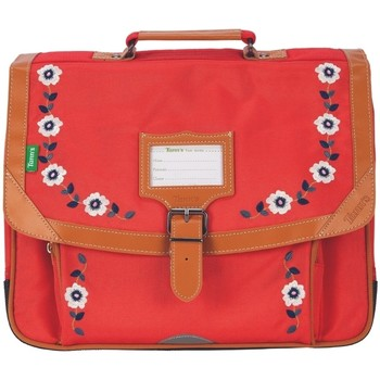 Sacs Fille Cartables Tann's Cartable 38  Broderies Andrea rouge 38*29*15 Rouge