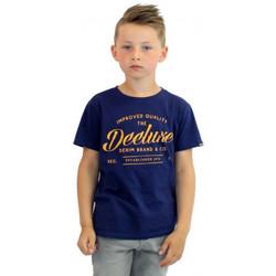 Vêtements Enfant T-shirts & Polos Deeluxe Tee shirt junior  à texte Bleu
