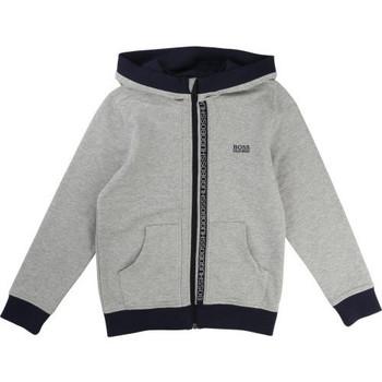 Vêtements Enfant Sweats BOSS Sweat junior gris J25902 Gris