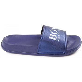 Chaussures Enfant Claquettes BOSS Claquette junior  J29173/849 bleu Bleu