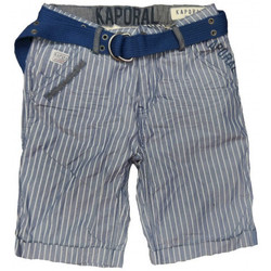 Vêtements Enfant Shorts / Bermudas Kaporal Short  à rayure CEDE junior bleu et blanc Bleu