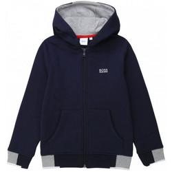 Vêtements Enfant Sweats BOSS Sweat junior TIMBERLAND bleu marine zipé Bleu