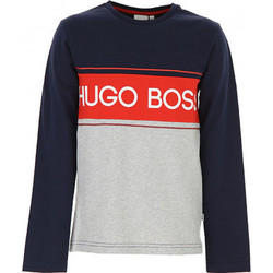 Vêtements Enfant T-shirts & Polos BOSS Tee-shirt junior Hugo  bleu/rouge/gris Bleu