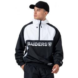 Vêtements Homme Blousons New-Era Veste Enfilable homme RAIDERS noir/blanche BLANC/NOIR