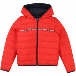 Vêtements Enfant Blousons BOSS Blouson junior Hugo  Reversible J26386 rouge/bleu Bleu