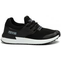 Chaussures Baskets basses Versace Basket Versace femme jeans couture noir et blanche Noir