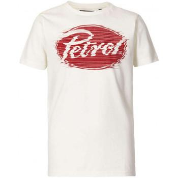 Vêtements Enfant T-shirts & Polos Petrol Industries Tee-shirt junior  blanc/rouge Blanc