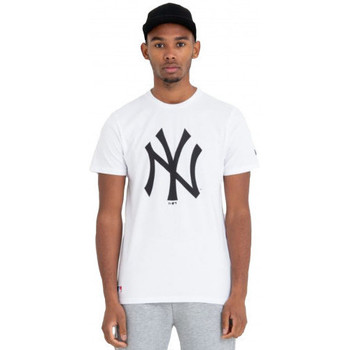 Vêtements T-shirts manches courtes New-Era Tee shirt homme YANKEES blanc New York Blanc