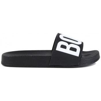 Chaussures Claquettes BOSS Claquette junior HUGO  noir J29202 Noir