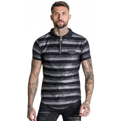 Vêtements Homme Polos manches courtes Gianni Kavanagh Polo homme noir et argent GIANI KAVANAGH Noir