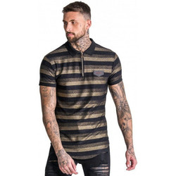 Vêtements Homme Polos manches courtes Gianni Kavanagh Polo homme noir/or GIANI KAVANAGH  GKG001458 Noir