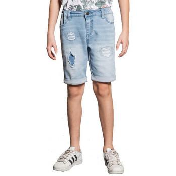 Vêtements Enfant Maillots / Shorts de bain Deeluxe Short junior en joggjeans bleu clair  BULLET S20JG850BB BLEU CIEL