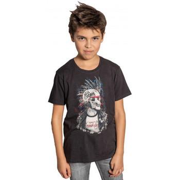 Vêtements Enfant T-shirts & Polos Deeluxe Tee-shirt junior  noir  ENFIELDON S20-188B Noir