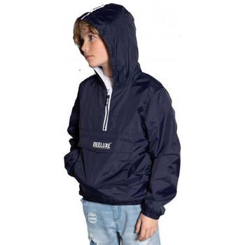 Vêtements Enfant Blousons Deeluxe Veste en-filable junior ELECTRIC  bleu marine  S20607B Bleu