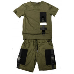Vêtements Enfant Ensembles enfant Boom Kids Ensemble short et tee shirt junior réflehissant kaki BL-621-1 KAKI