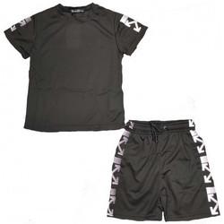 Vêtements Enfant Ensembles enfant Boom Kids Ensemble junior short et tee shirt  C130-1 Noir