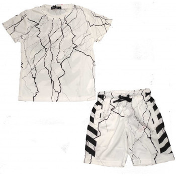 Vêtements Enfant Ensembles enfant Boom Kids Ensemble short et tee shirt ICON junior blanc C132-2 Blanc