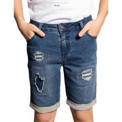 Vêtements Enfant Shorts / Bermudas Deeluxe Short junior  BULLET bleu foncé BLEU BRUT