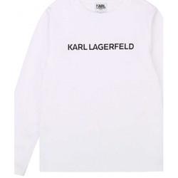 Vêtements Enfant T-shirts & Polos Karl Lagerfeld Tee shirt junior  blanc Z25243 Blanc