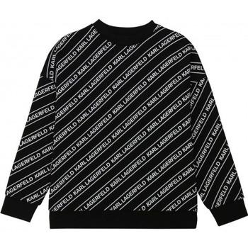 Vêtements Enfant Sweats Karl Lagerfeld Sweat junior  noir/blanc  Z25266 Noir