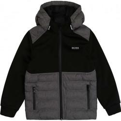 Vêtements Enfant Doudounes BOSS Veste junior Hugo  noir et grise J25G76 Noir