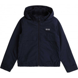 Vêtements Enfant Blousons BOSS Blouson junior Hugo  bleu marine déperlant J26408 Bleu
