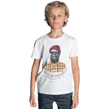 Vêtements Enfant T-shirts & Polos Deeluxe Tee shirt junior Hypster  TELLSON blanc Blanc