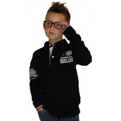 Vêtements Enfant T-shirts & Polos Deeluxe Polo Noir Peplum  Junior Noir