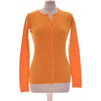 Vêtements Femme Gilets / Cardigans Galeries Lafayette Gilet Femme  34 - T0 - Xs Orange