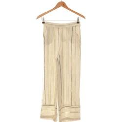 Vêtements Femme Pantalons fluides / Sarouels Cache Cache Pantalon Bootcut Femme  34 - T0 - Xs Blanc