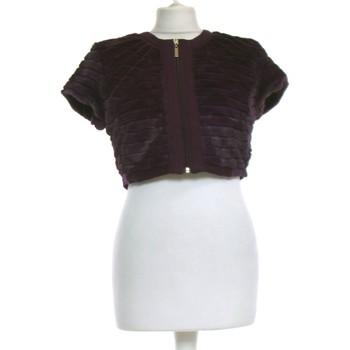Vêtements Femme Gilets / Cardigans Jacqueline Riu Gilet Femme  36 - T1 - S Violet