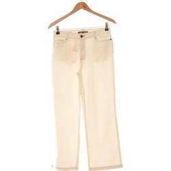 Vêtements Femme Pantalons fluides / Sarouels Bruno Saint Hilaire Pantalon Droit Femme  38 - T2 - M Beige