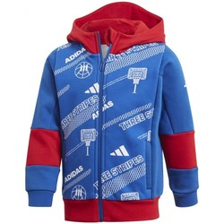 Vêtements Garçon Sweats adidas Originals Lb Fleece Jkt Bleu