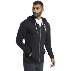 Vêtements Homme Sweats Reebok Sport Te Ft Fz Hoodie Noir