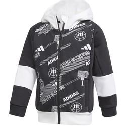 Vêtements Garçon Vestes de survêtement adidas Originals Lb Fleece Jkt Noir
