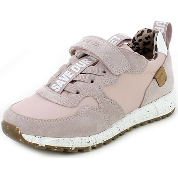 Chaussures Fille Baskets basses Geox ALBENE21.14_28 Rose