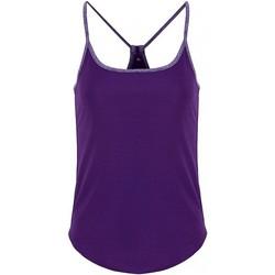 Vêtements Femme Tops / Blouses Tridri TR043 Violet/violet chiné