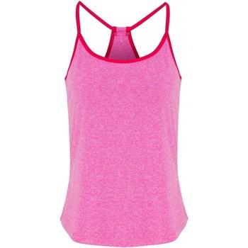 Vêtements Femme Tops / Blouses Tridri TR043 Rose chiné/rose vif