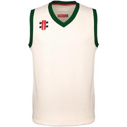 Vêtements Enfant Débardeurs / T-shirts sans manche Gray-Nicolls GN28J Blanc cassé/vert