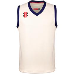Vêtements Enfant Débardeurs / T-shirts sans manche Gray-Nicolls GN28J Blanc cassé/bleu marine