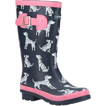 Chaussures Fille Bottes de pluie Cotswold  Bleu marine / rose