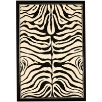 Maison & Déco Tapis Unamourdetapis Tapis design et moderne Zebre Noir 240x340 cm Noir