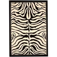 Maison & Déco Tapis Unamourdetapis Tapis design et moderne Zebre Noir 60x110 cm Noir