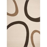 Maison & Déco Tapis Dezenco Tapis design et moderne Tempo Beige 80x150 cm Beige